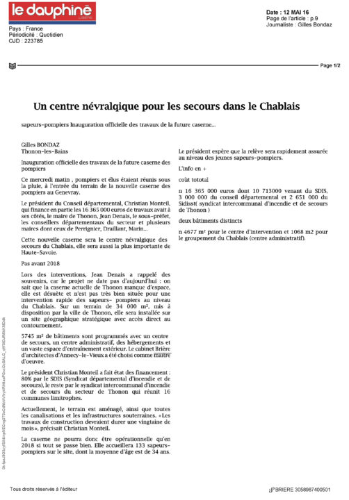 11-2016-05-12 LE DAUPHINE LIBERE_Page_1